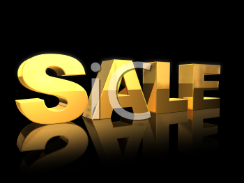 Royalty Free 3d Clipart Image of a Sale Sign