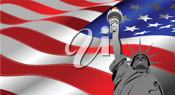 4th July – Independence day of United States of America. Poster for  graphic designers