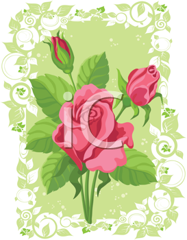 illustration of a roses card