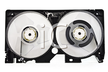 Royalty Free Photo of an Open Video Cassette
