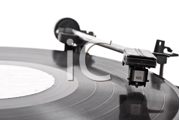 Royalty Free Photo of a Vinyl Record Playing