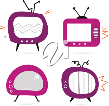 Royalty Free Clipart Image of Televisions
