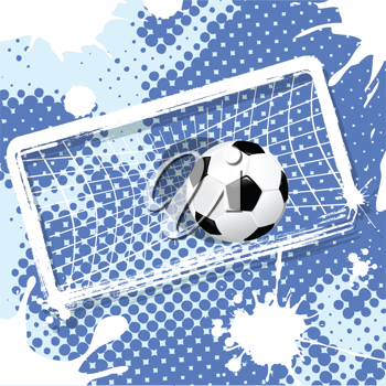 Royalty Free Clipart Image of a Soccer Background