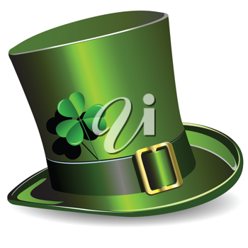 Royalty Free Clipart Image of a Green St.Patrick's Day Hat