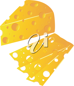 Royalty Free Clipart Image of Cheese