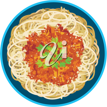 Royalty Free Clipart Image of Spaghetti