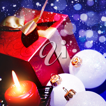 Abstract Christmas background for your design