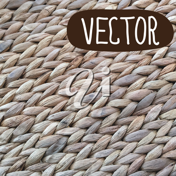Wicker texture backgroun. Vector illustration in rustic style