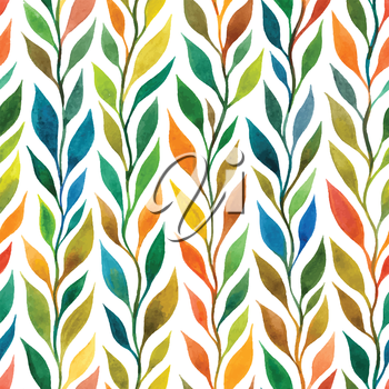 Floral seamless pattern with branches