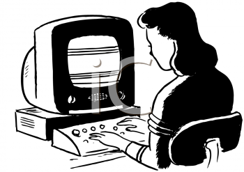 Royalty Free Clipart Image of a Computer User