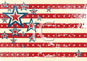 Royalty Free Clipart Image of an American Flag Pattern Background