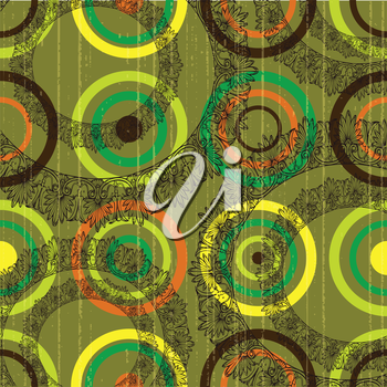 circles and lace grunge background