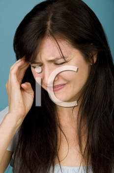 Royalty Free Photo of a Woman in Pain
