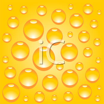 Royalty Free Clipart Image of Water Drops