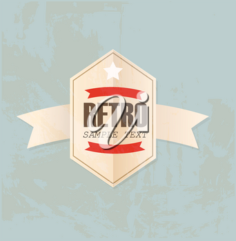 Royalty Free Clipart Image of a Retro Label
