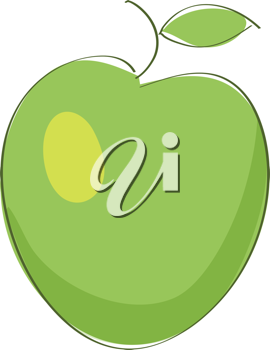 Royalty Free Clipart Image of an Apple