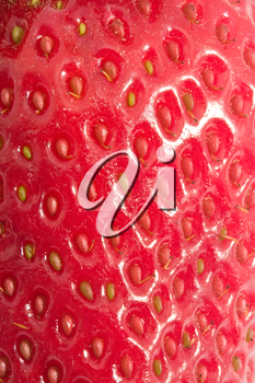 Nice macro photo of red sweet strawberriy