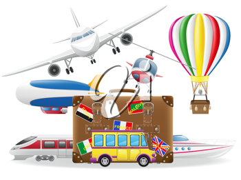 Royalty Free Clipart Image of Travel Elements