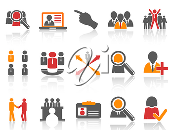 Royalty Free Clipart Image of Human Resources Icons