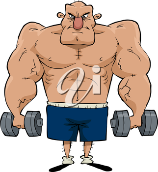 Royalty Free Clipart Image of a Muscular Man