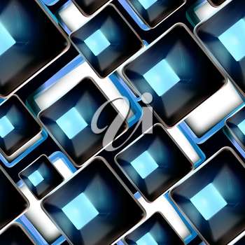 Abstract background, black and blue seamless