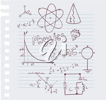 Vector illustration of Physics set