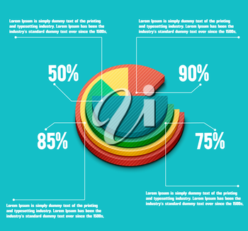 Business pie chart for documents and reports for documents, reports, graph, infographic, business plan