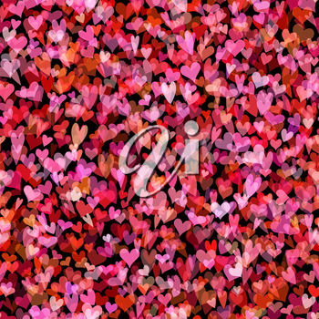 Background of various hearts for your design.