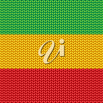 Knitted reggae pattern. Vector illustration.